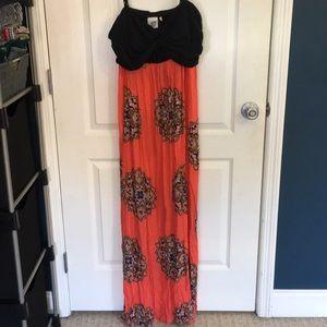 Anthropologie Lilka maxi dress sz XL